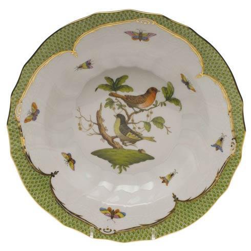 Herend Collections Rothschild Bird Green Border Rim Soup - Motif 03 $455.00