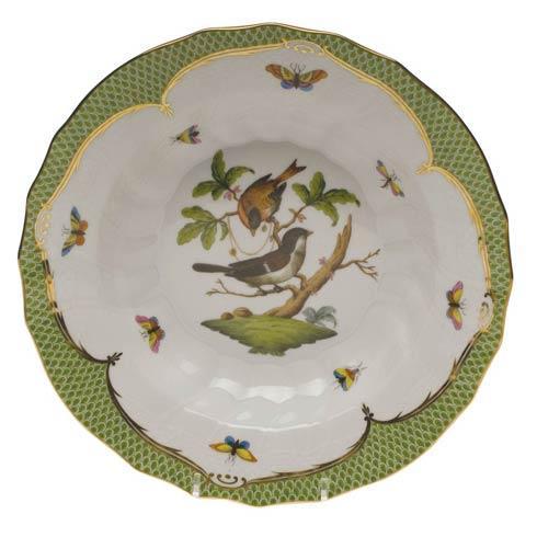 Herend Collections Rothschild Bird Green Border Rim Soup - Motif 04 $455.00