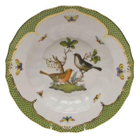 Herend Collections Rothschild Bird Green Border Rim Soup - Motif 05 $455.00