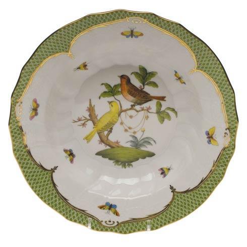 Herend Collections Rothschild Bird Green Border Rim Soup - Motif 06 $455.00