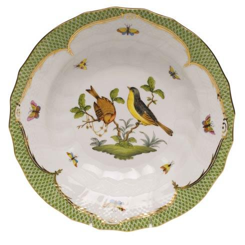 Herend Collections Rothschild Bird Green Border Rim Soup - Motif 07 $455.00