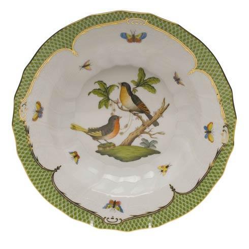 Herend Collections Rothschild Bird Green Border Rim Soup - Motif 08 $455.00