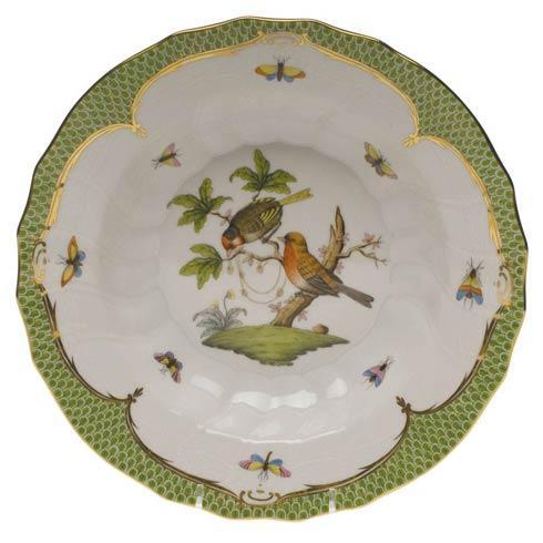 Herend Collections Rothschild Bird Green Border Rim Soup - Motif 10 $455.00