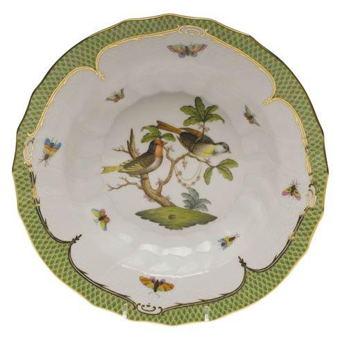 Herend Collections Rothschild Bird Green Border Rim Soup - Motif 11 $455.00