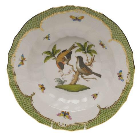 Herend Collections Rothschild Bird Green Border Rim Soup - Motif 12 $455.00