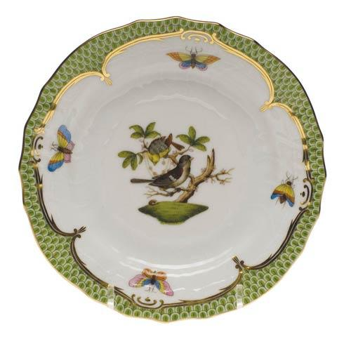Herend Collections Rothschild Bird Green Border Bread & Butter Plate - Mo 01 $280.00