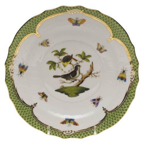 Herend Collections Rothschild Bird Green Border Salad Plate - Motif 01 $320.00