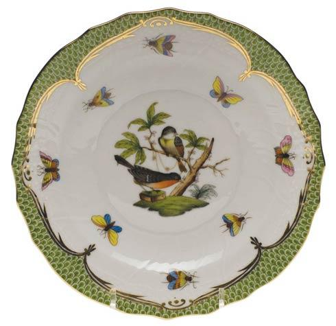Herend Rothschild Bird Green Border Salad Plate - Motif 02 $320.00
