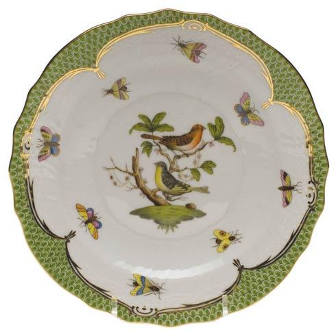 Herend Rothschild Bird Green Border Salad Plate - Motif 03 $320.00