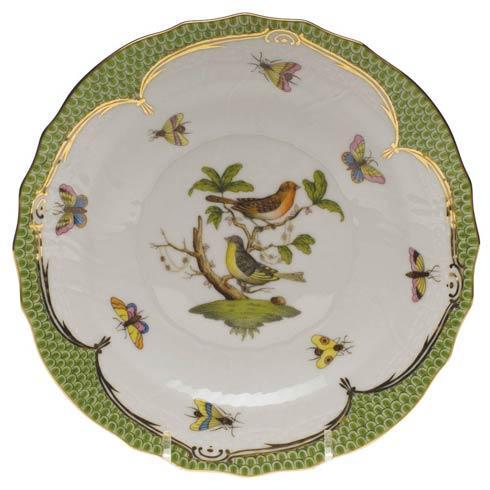 Herend Collections Rothschild Bird Green Border Salad Plate - Motif 03 $320.00