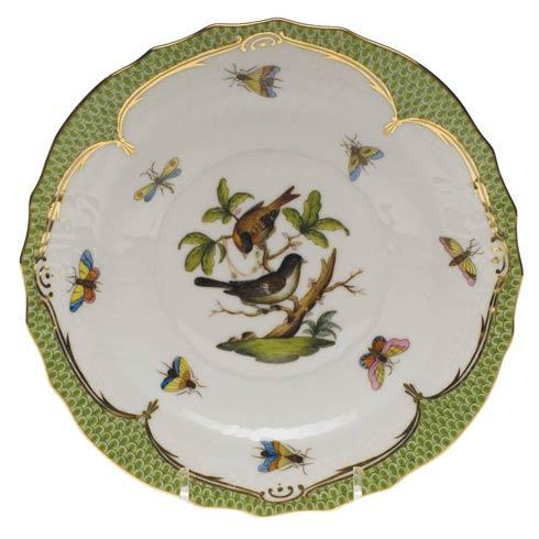 Herend Rothschild Bird Green Border Salad Plate - Motif 04 $320.00