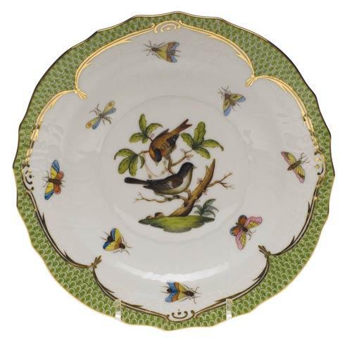 Herend Collections Rothschild Bird Green Border Salad Plate - Motif 04 $320.00