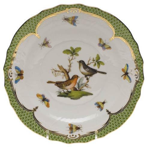 Herend Collections Rothschild Bird Green Border Salad Plate - Motif 05 $320.00
