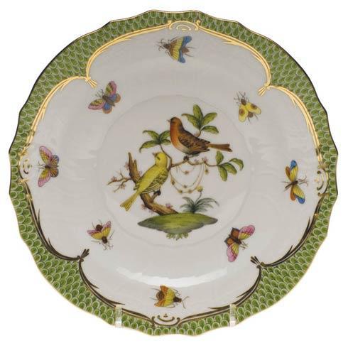 Herend Rothschild Bird Green Border Salad Plate - Motif 06 $320.00