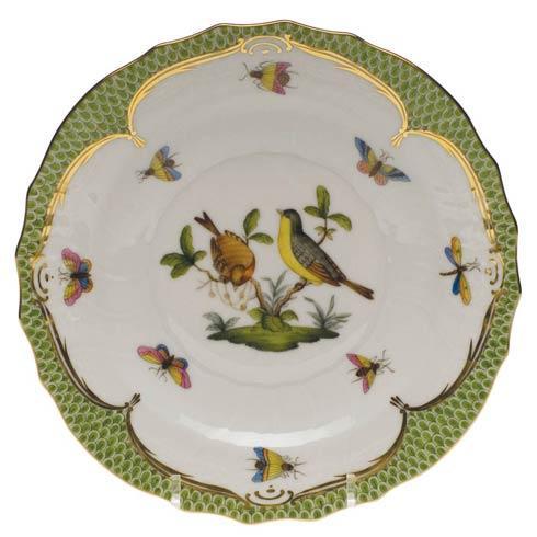 Herend Collections Rothschild Bird Green Border Salad Plate - Motif 07 $320.00