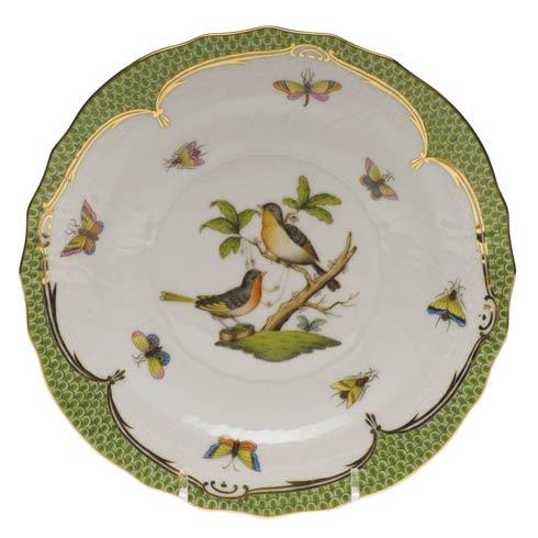 Herend Rothschild Bird Green Border Salad Plate - Motif 08 $320.00