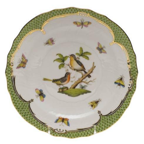 Herend Collections Rothschild Bird Green Border Salad Plate - Motif 08 $320.00