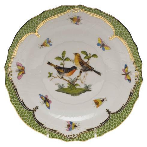 Herend Collections Rothschild Bird Green Border Salad Plate - Motif 09 $320.00