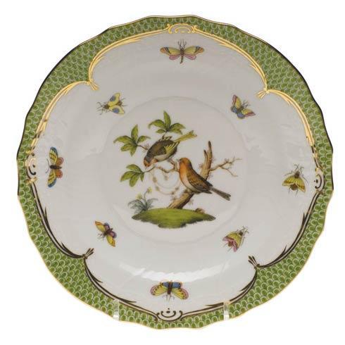 Herend Rothschild Bird Green Border Salad Plate - Motif 10 $320.00