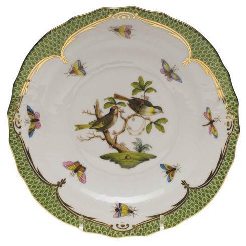 Herend Rothschild Bird Green Border Salad Plate - Motif 11 $320.00