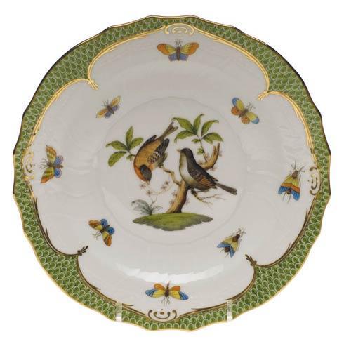 Herend Collections Rothschild Bird Green Border Salad Plate - Motif 12 $320.00