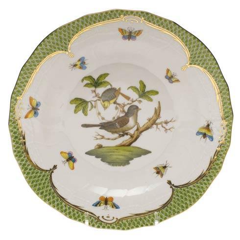 Herend Rothschild Bird Green Border Dessert Plate - Motif 01 $385.00