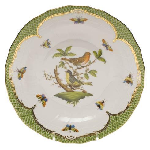Herend Collections Rothschild Bird Green Border Dessert Plate - Motif 03 $385.00