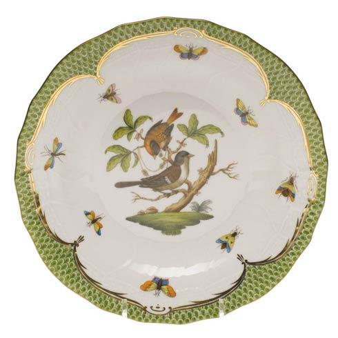 Herend Collections Rothschild Bird Green Border Dessert Plate - Motif 04 $385.00