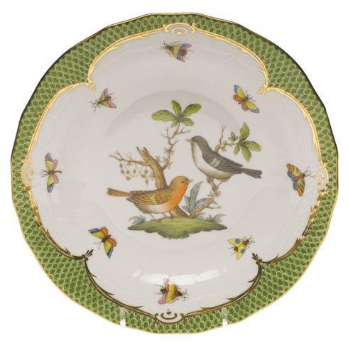 Herend Collections Rothschild Bird Green Border Dessert Plate - Motif 05 $385.00