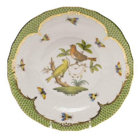 Herend Collections Rothschild Bird Green Border Dessert Plate - Motif 06 $385.00