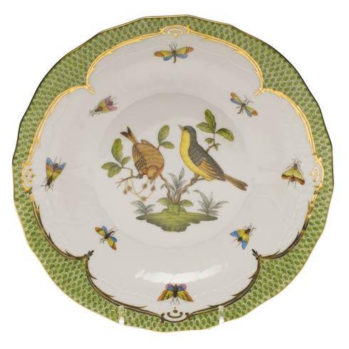 Herend Collections Rothschild Bird Green Border Dessert Plate - Motif 07 $385.00