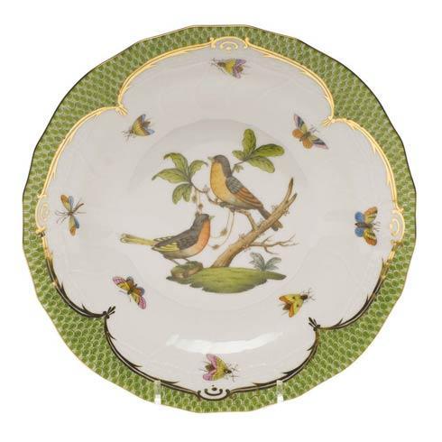 Herend Collections Rothschild Bird Green Border Dessert Plate - Motif 08 $385.00