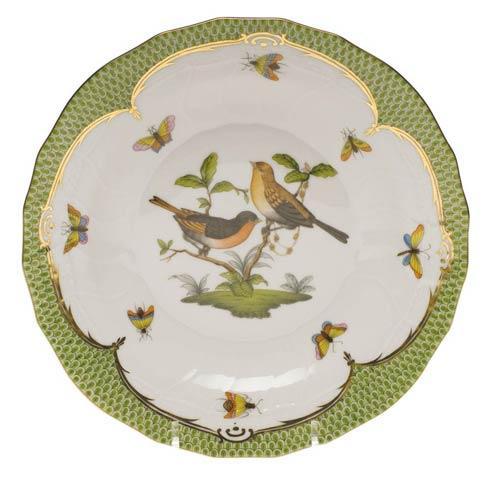Herend Collections Rothschild Bird Green Border Dessert Plate - Motif 09 $385.00