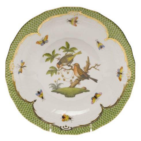 Herend Collections Rothschild Bird Green Border Dessert Plate - Motif 10 $385.00