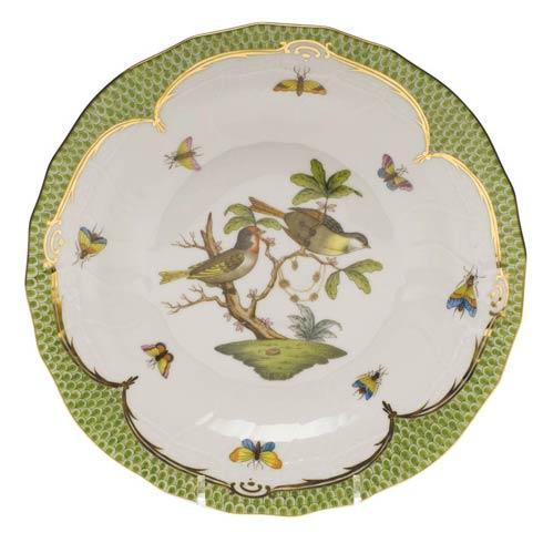 Herend Collections Rothschild Bird Green Border Dessert Plate - Motif 11 $385.00