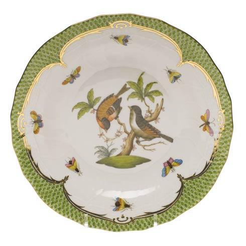 Herend Collections Rothschild Bird Green Border Dessert Plate - Motif 12 $385.00