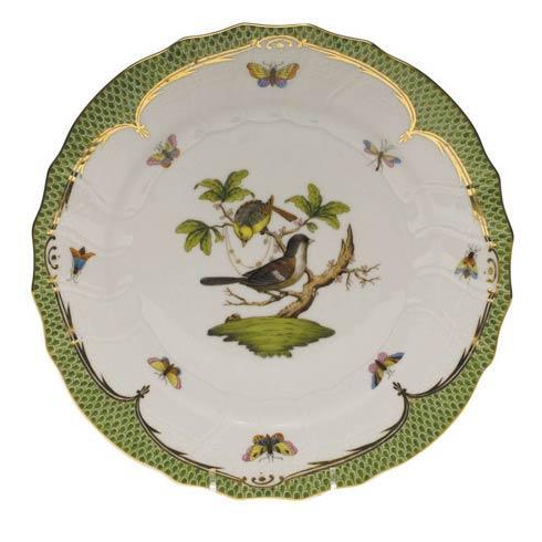 Herend Collections Rothschild Bird Green Border Dinner Plate - Motif 01 $475.00