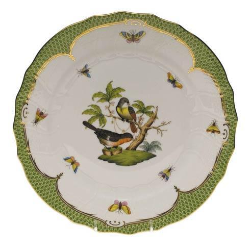 Herend Collections Rothschild Bird Green Border Dinner Plate - Motif 02 $475.00