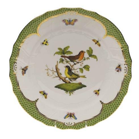Herend Rothschild Bird Green Border Dinner Plate - Motif 03 $475.00