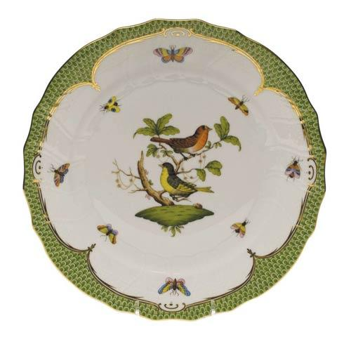 Herend Collections Rothschild Bird Green Border Dinner Plate - Motif 03 $475.00