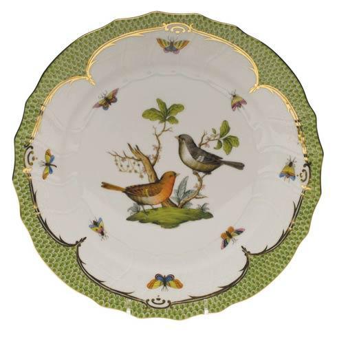 Herend Rothschild Bird Green Border Dinner Plate - Motif 05 $475.00
