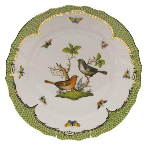 Herend Collections Rothschild Bird Green Border Dinner Plate - Motif 05 $475.00