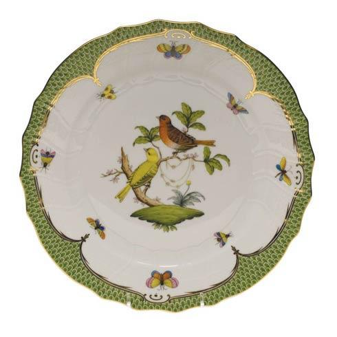 Herend Collections Rothschild Bird Green Border Dinner Plate - Motif 06 $475.00