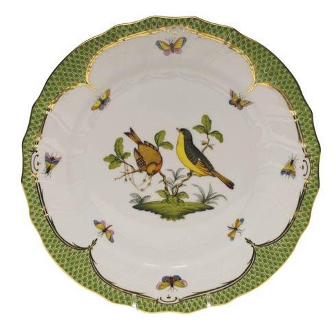 Herend Rothschild Bird Green Border Dinner Plate - Motif 07 $475.00