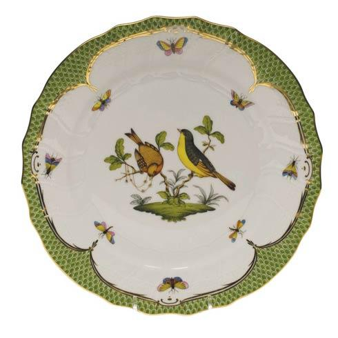 Herend Collections Rothschild Bird Green Border Dinner Plate - Motif 07 $475.00