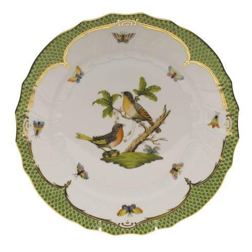 Herend Rothschild Bird Green Border Dinner Plate - Motif 08 $475.00