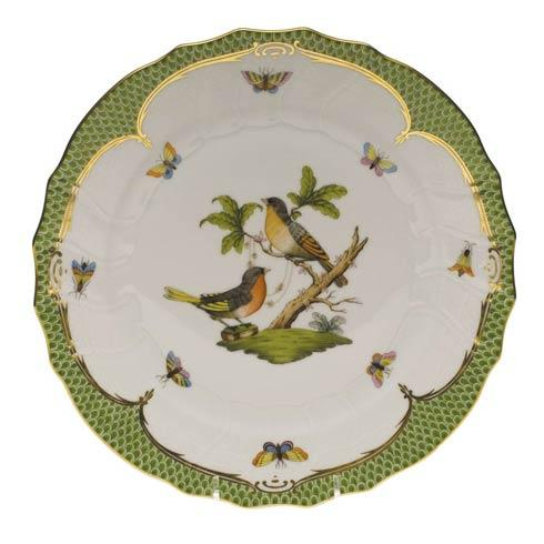 Herend Collections Rothschild Bird Green Border Dinner Plate - Motif 08 $475.00