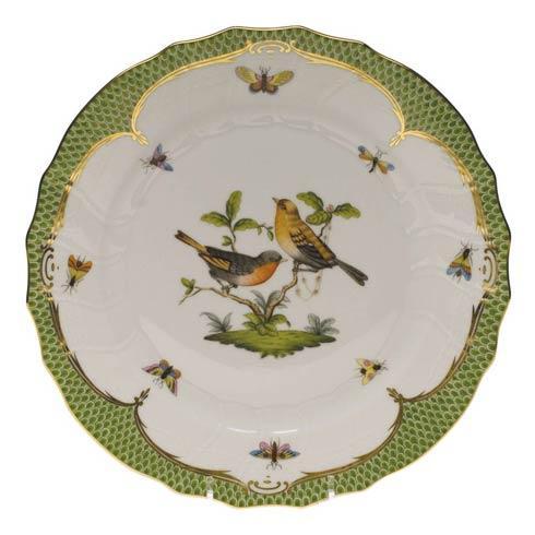 Herend Rothschild Bird Green Border Dinner Plate - Motif 09 $475.00