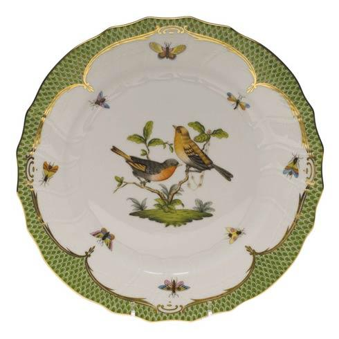 Herend Collections Rothschild Bird Green Border Dinner Plate - Motif 09 $475.00