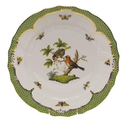 Herend Rothschild Bird Green Border Dinner Plate - Motif 10 $475.00